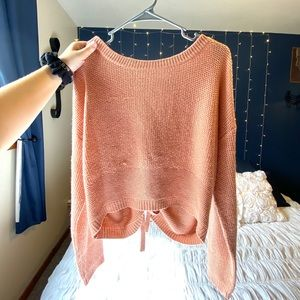 Peach Tied Sweater